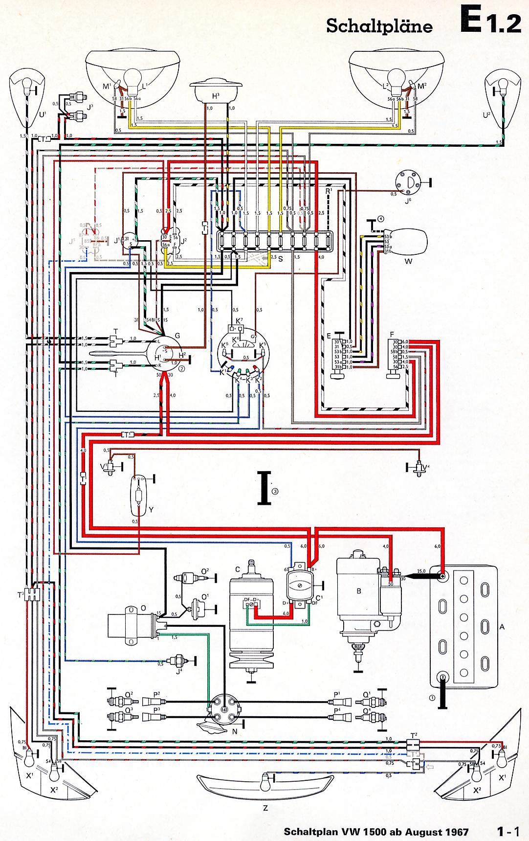 Gemütlich Vw Typ 3 Schaltplan Fotos - Die Besten Elektrischen ...
