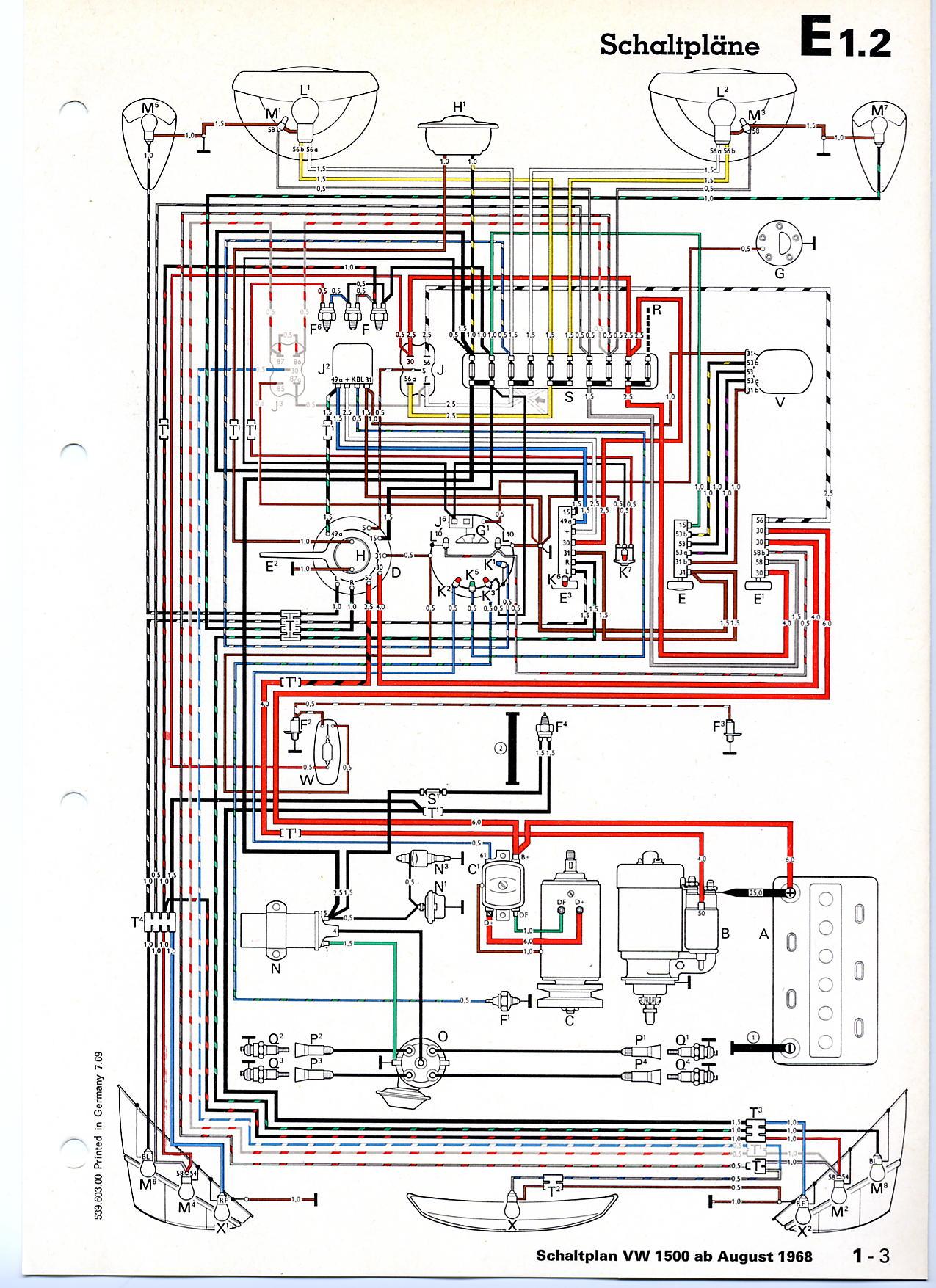 Erfreut 1969 Vw Käfer Schaltplan Galerie - Der Schaltplan - triangre ...