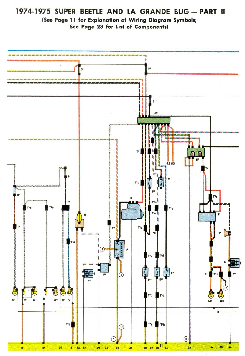 Berühmt 1974 Super Käfer Schaltplan Bilder - Der Schaltplan - greigo.com
