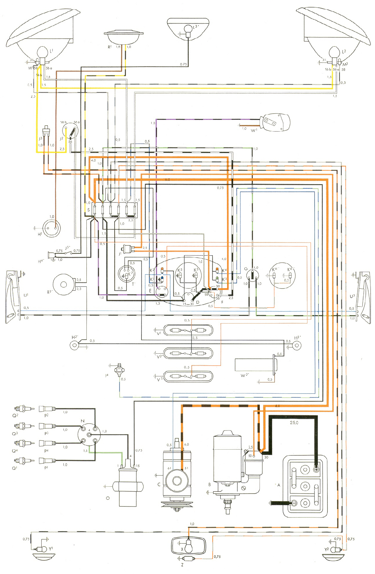 72 Vw Super Beetle Wiring Diagram Start Building A 1976 Bug Fuse Box 2002 Schematic Rh Aikidorodez Com 1972
