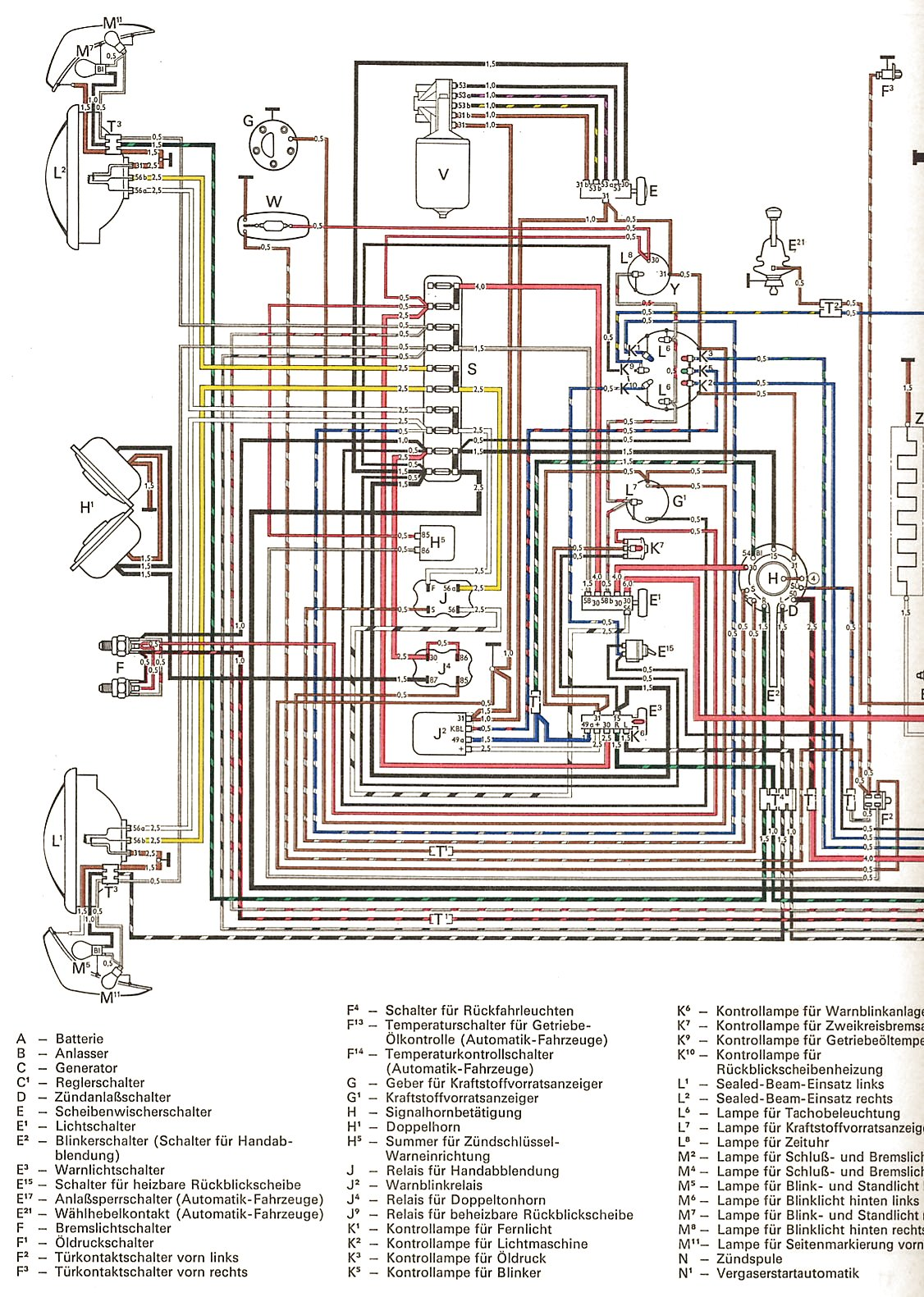 Ghia Usa From August on 1967 Vw Beetle Wiring Diagram