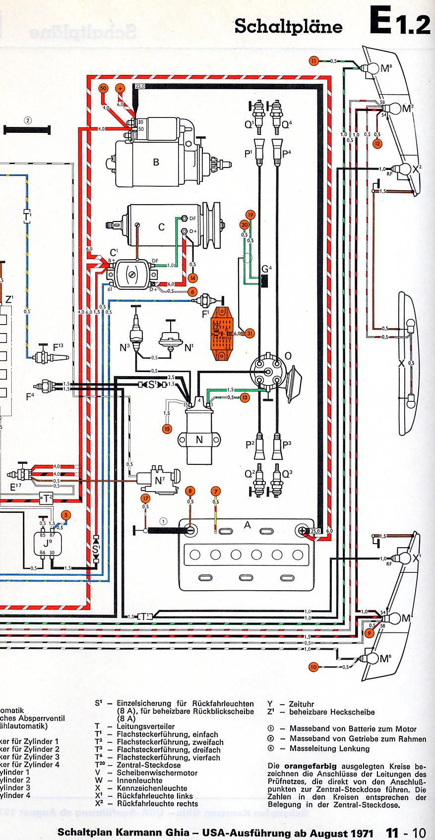 Niedlich 1972 Vw Käfer Schaltplan Ideen - Elektrische Schaltplan ...