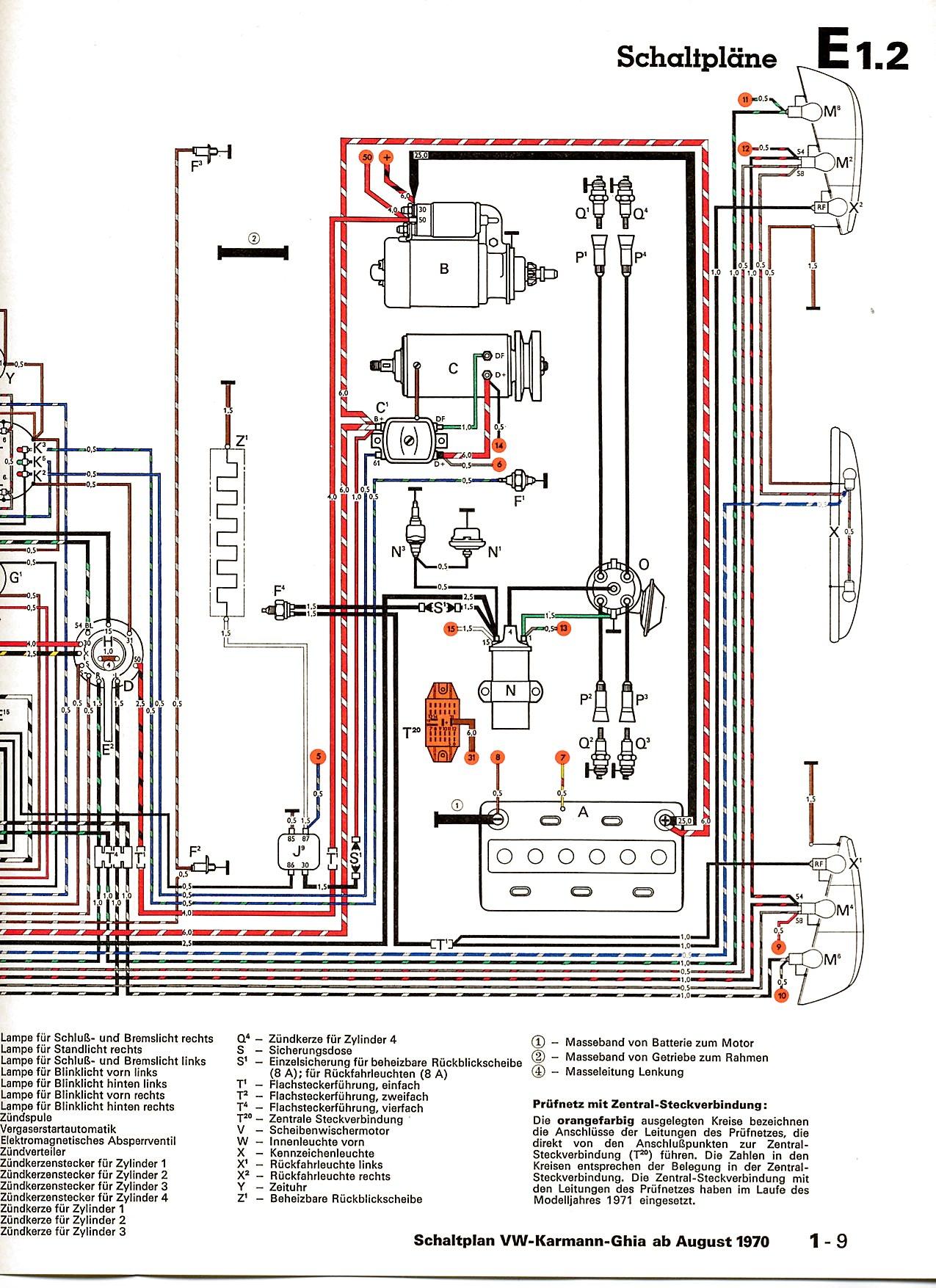 Karmann Ghia-Schaltpläne