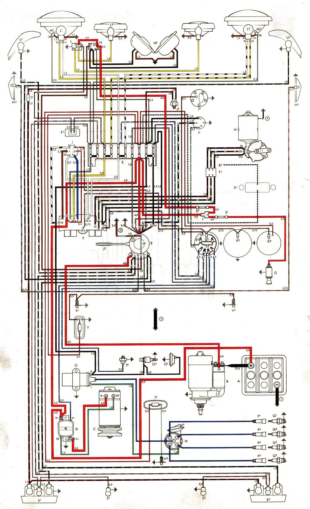 Schön 1964 Vw Käfer Schaltplan Ideen - Schaltplan Serie Circuit ...