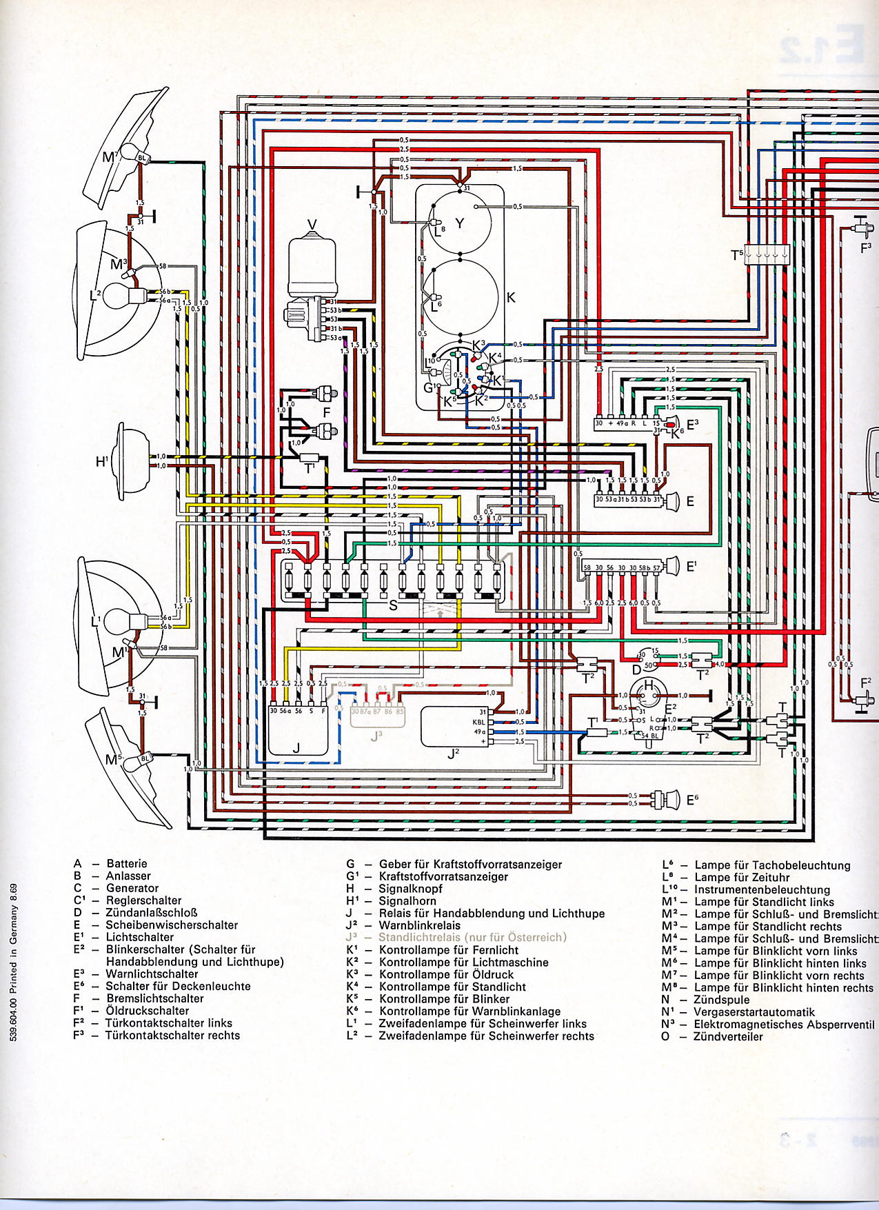 Transporter From August on 1965 Dodge Wiring Diagram