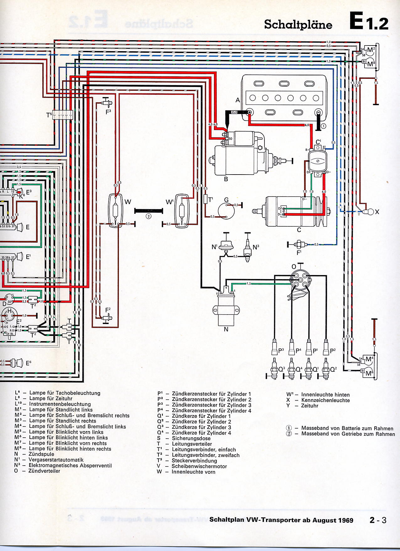 Busschaltplaene on 1974 vw beetle wiring diagram