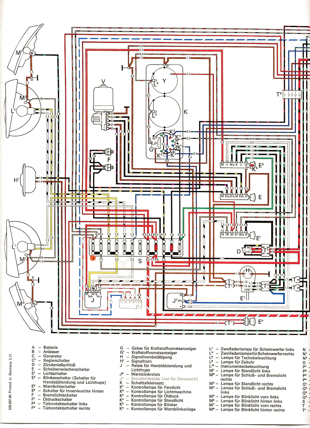 Transporter From August on Vw Beetle Wiring Diagram 1962